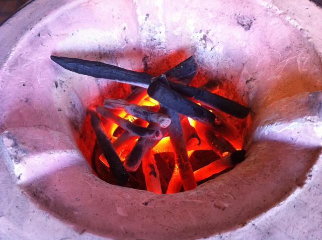 けんけらコンロの火の色